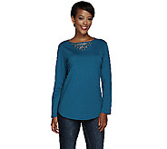 Susan Graver Artisan French Terry Top with Embellishment - A266826