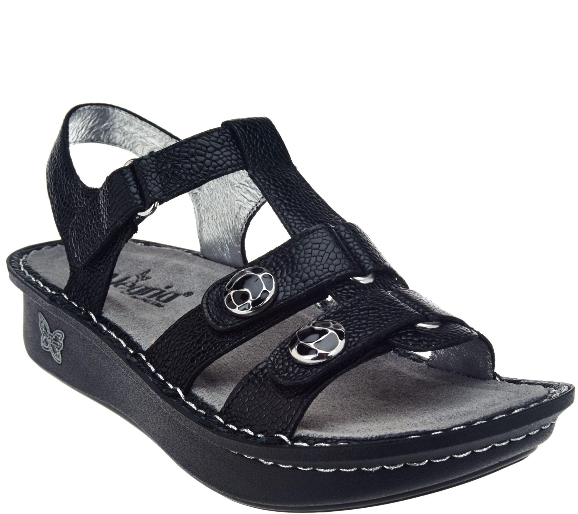 fca9af5a8 Alegria Leather Multi-Strap Sandals w  Backstrap - Kleo - Page 1 — QVC.com