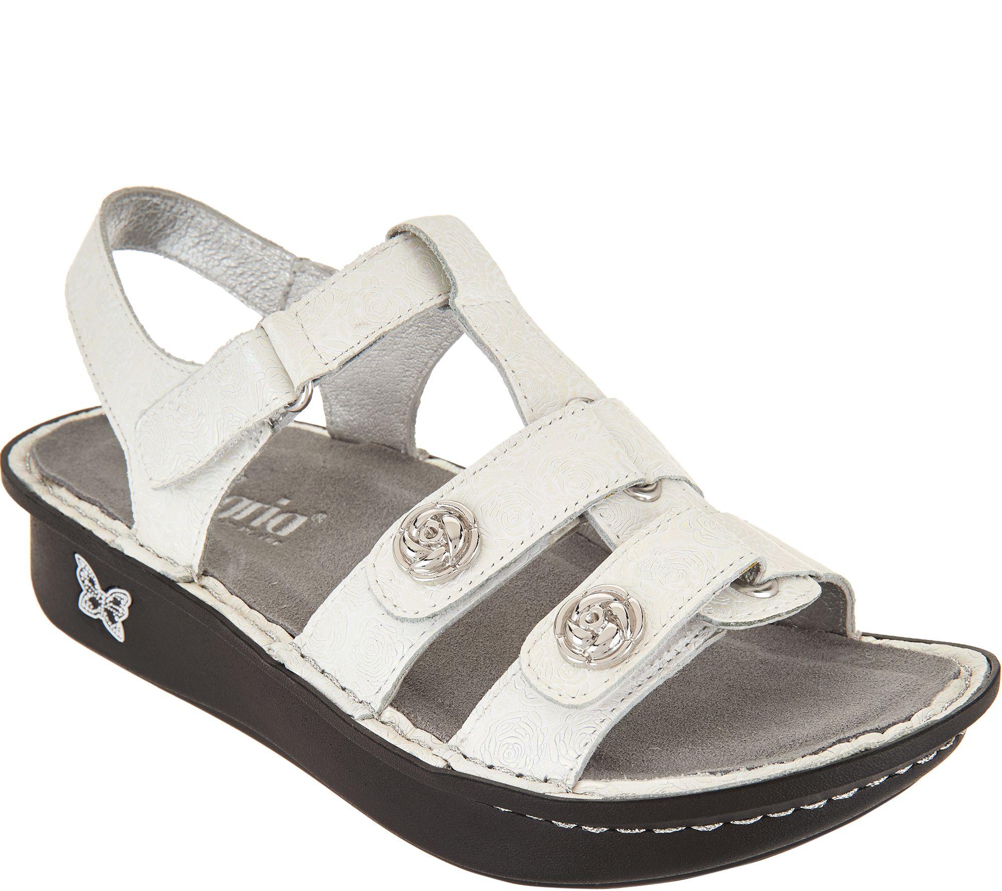b43392236b403c Alegria Leather Multi-Strap Sandals w  Backstrap - Kleo - Page 1 — QVC.com