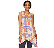 LOGO by Lori Goldstein Printed Knit Tank with Pockets - A288026
