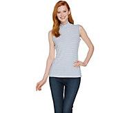 Lisa Rinna Collection Sleeveless Mock Neck Rib Knit Top - A290726