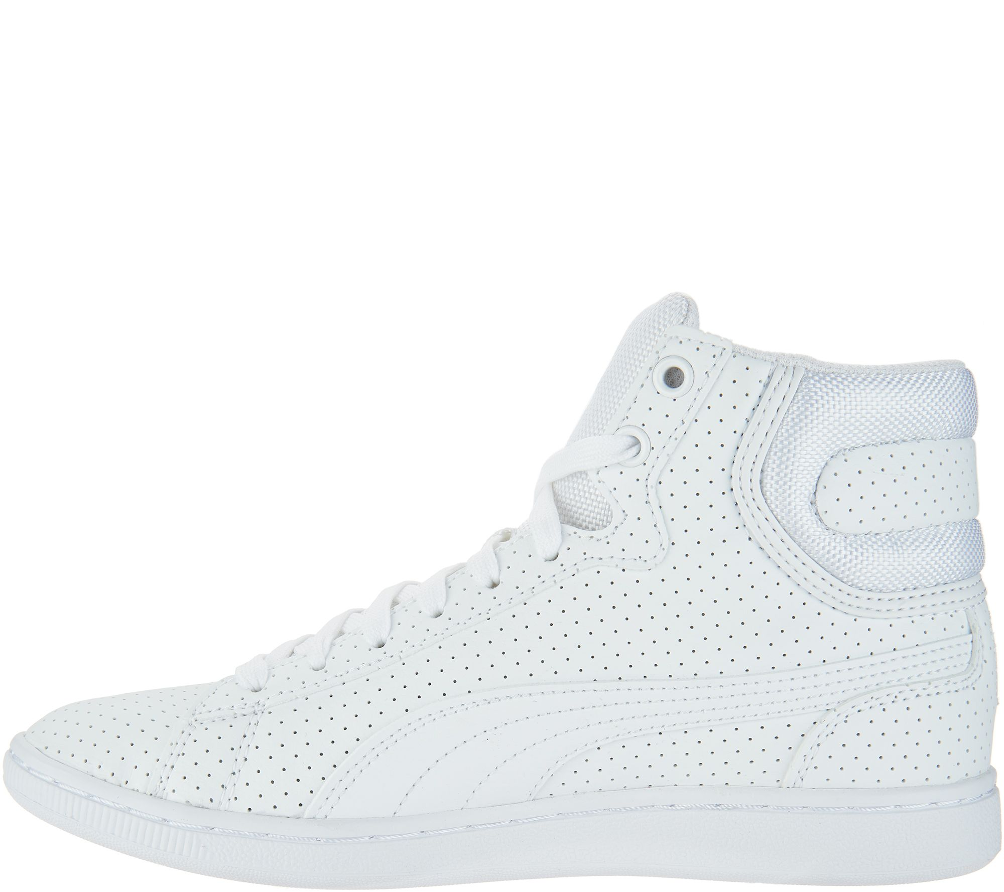 caa96db9a9a PUMA Hightop Sneakers - Vikky Mid Perforated - Page 1 — QVC.com