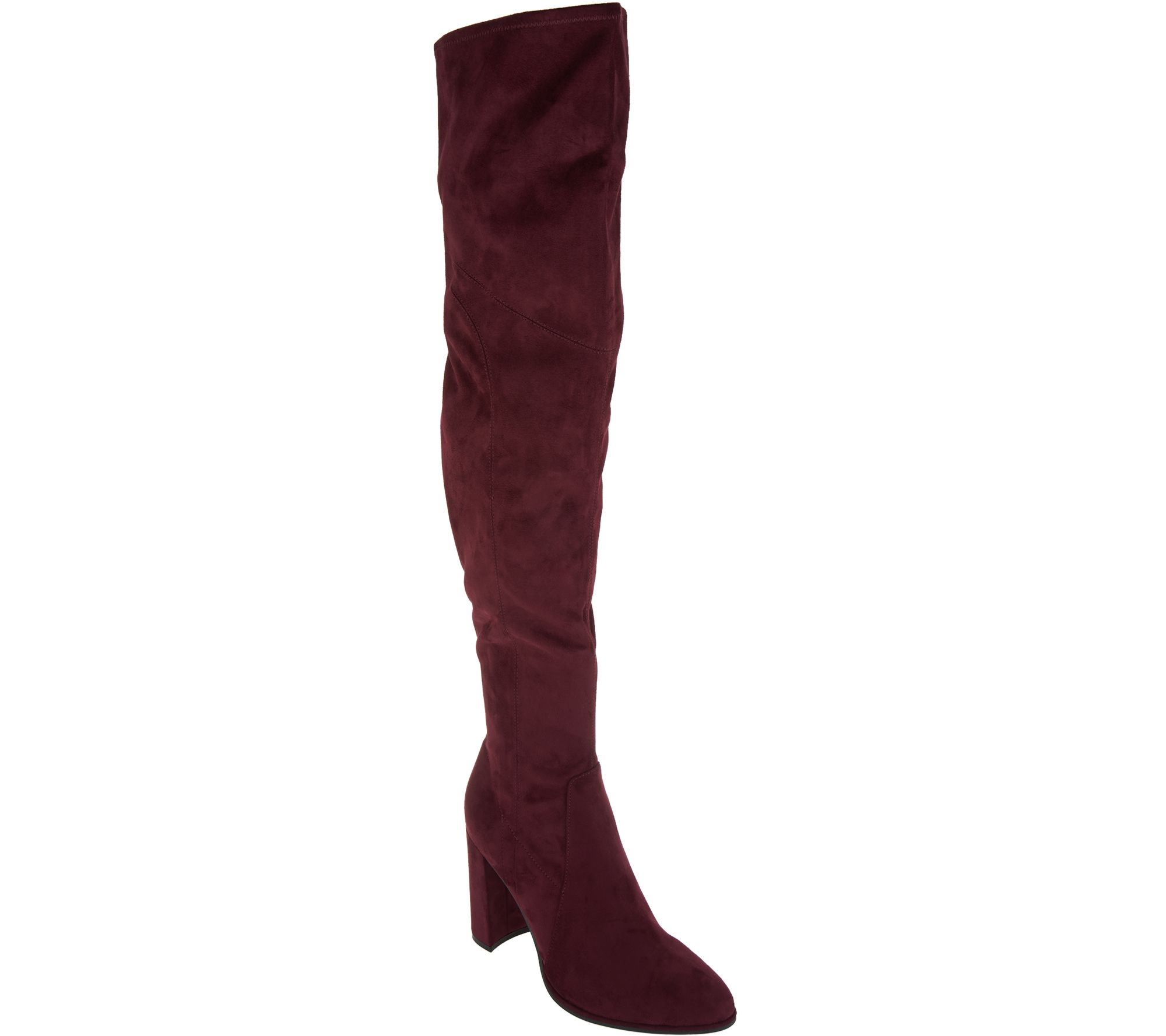 ad04f55d0c9 Marc Fisher Faux Suede or Glitter Fabric Thigh High Boots - Nella - Page 1  — QVC.com