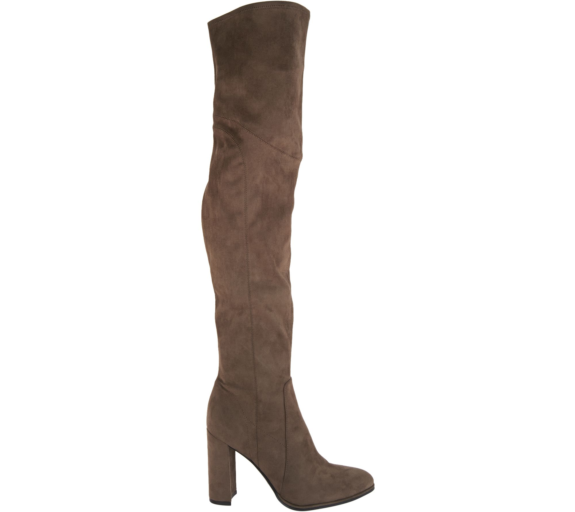 c455628b027 Marc Fisher Faux Suede or Glitter Fabric Thigh High Boots - Nella - Page 1  — QVC.com