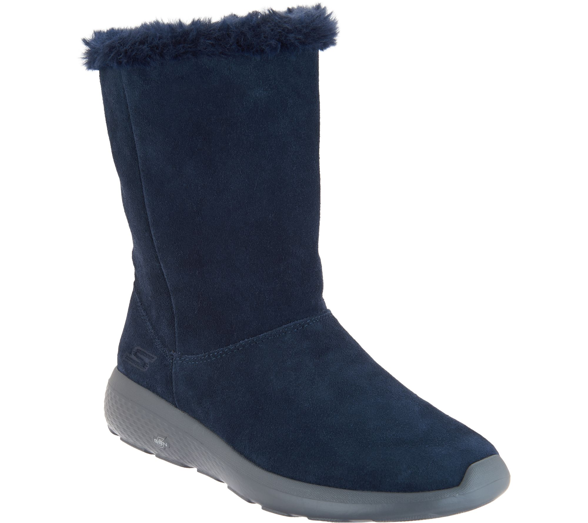 super quality best sneakers 100% quality Skechers GOwalk Suede and Faux Fur Boots - Stunning — QVC.com