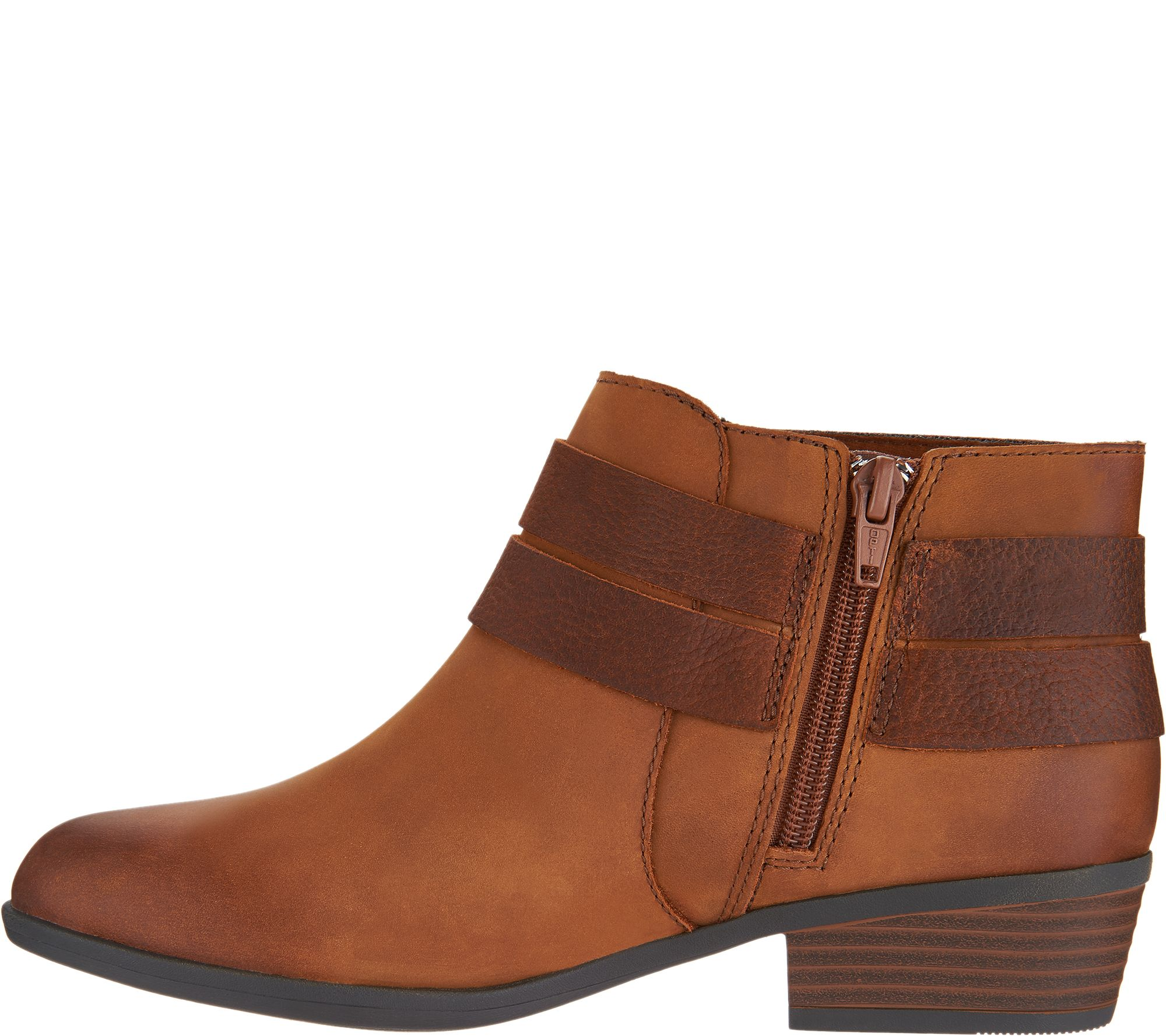 eeaec203 Clarks Collection Leather Ankle Boots - Addiy Cora — QVC.com