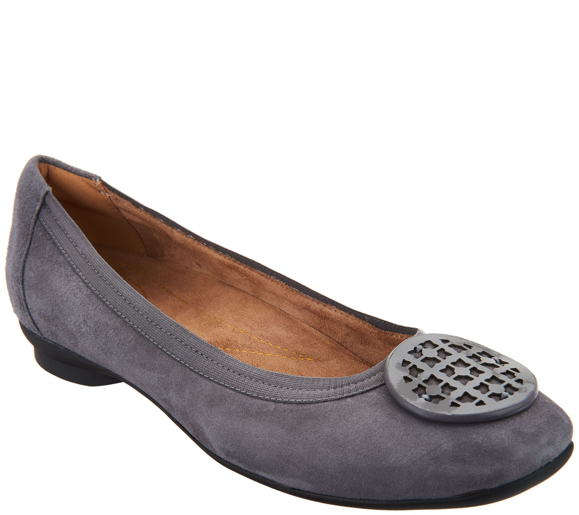 30bbb939defd Clarks Artisan Leather Ballet Flats - Candra Blush - Page 1 — QVC.com