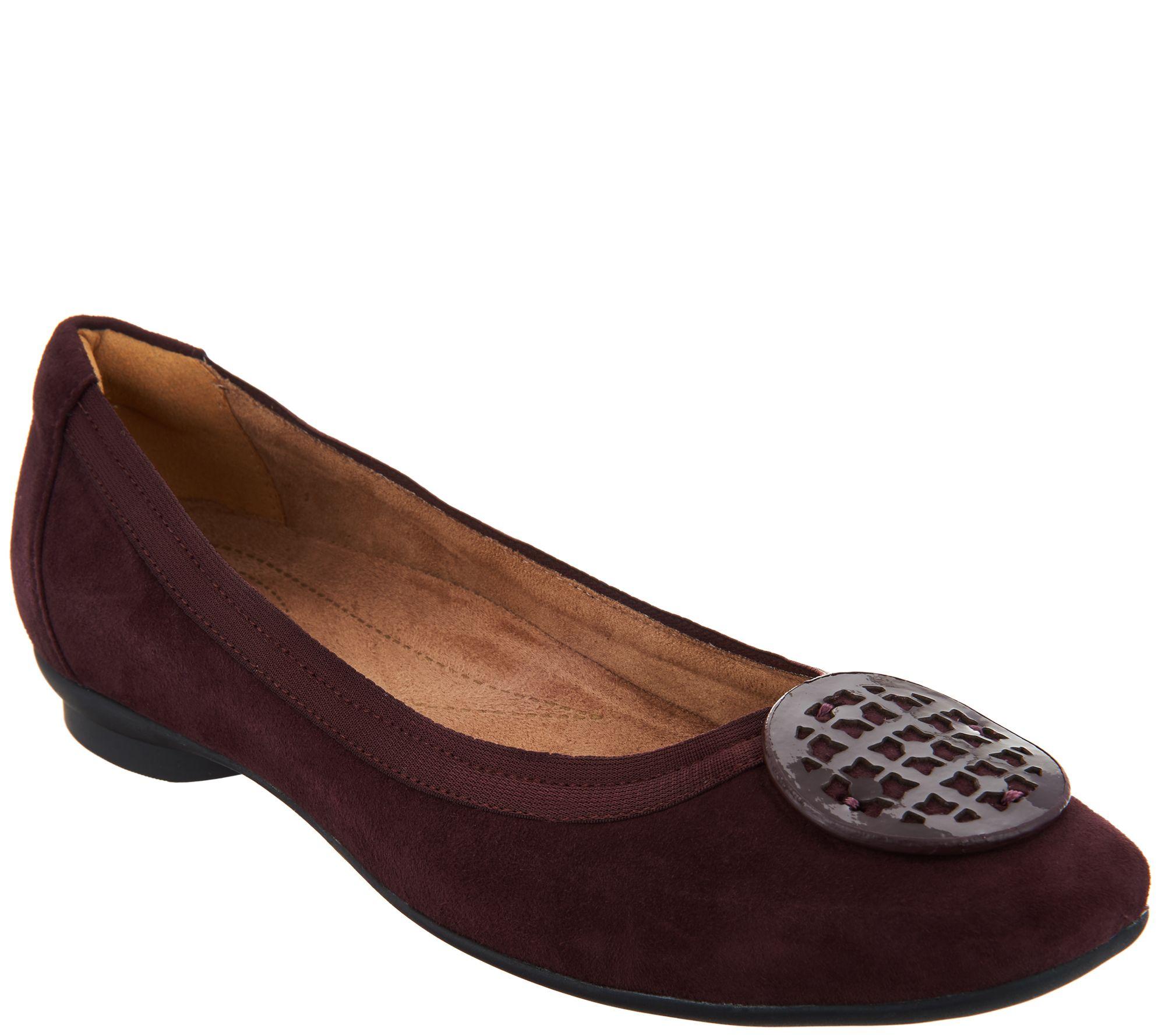 381da8fec Clarks Artisan Leather Ballet Flats - Candra Blush - Page 1 — QVC.com