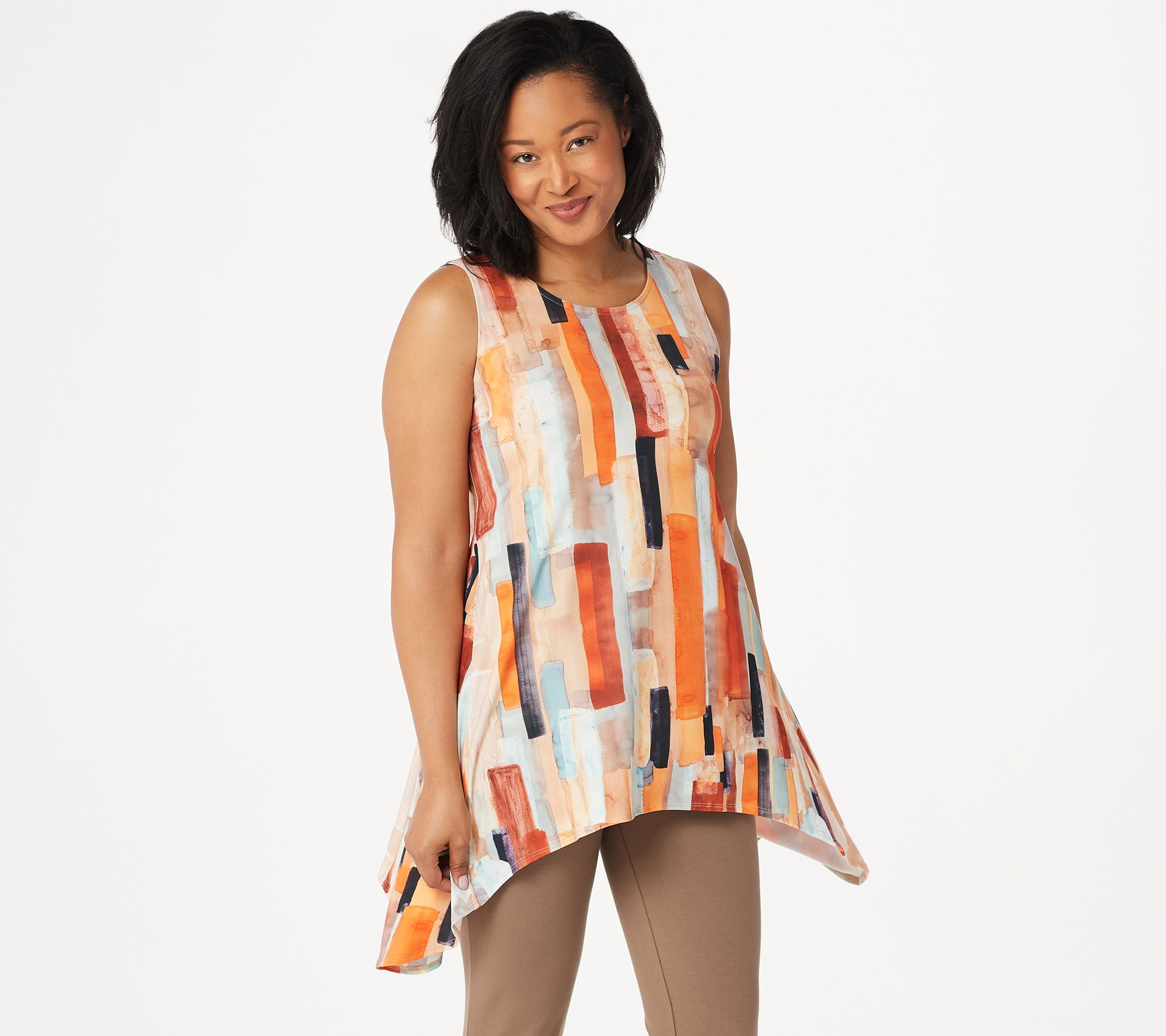 f5804c4b02fd Women with Control Regular Printed Tunic with Capri Pants Set - Page 1 —  QVC.com