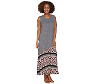 Joan Rivers Petite Length Mixed Pattern Sleeveless Maxi Dress - A301926