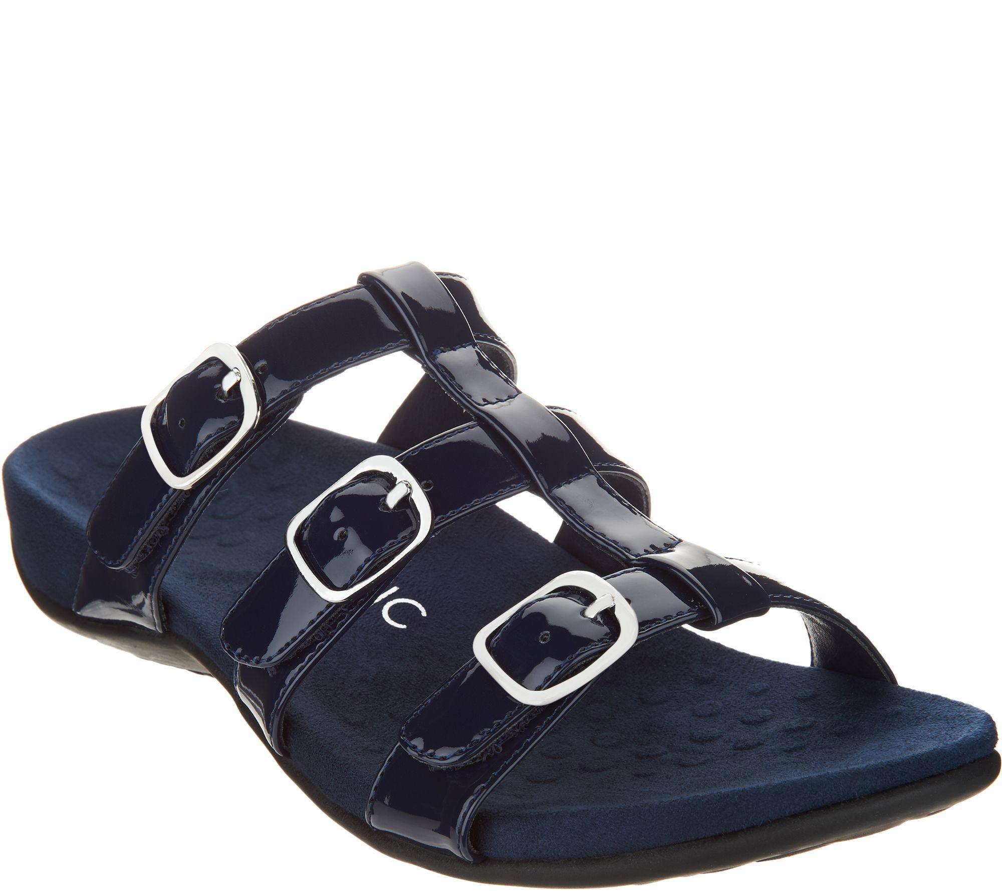 9d3e8bdb6687 Vionic Adjustable Slide Sandals - Misa — QVC.com