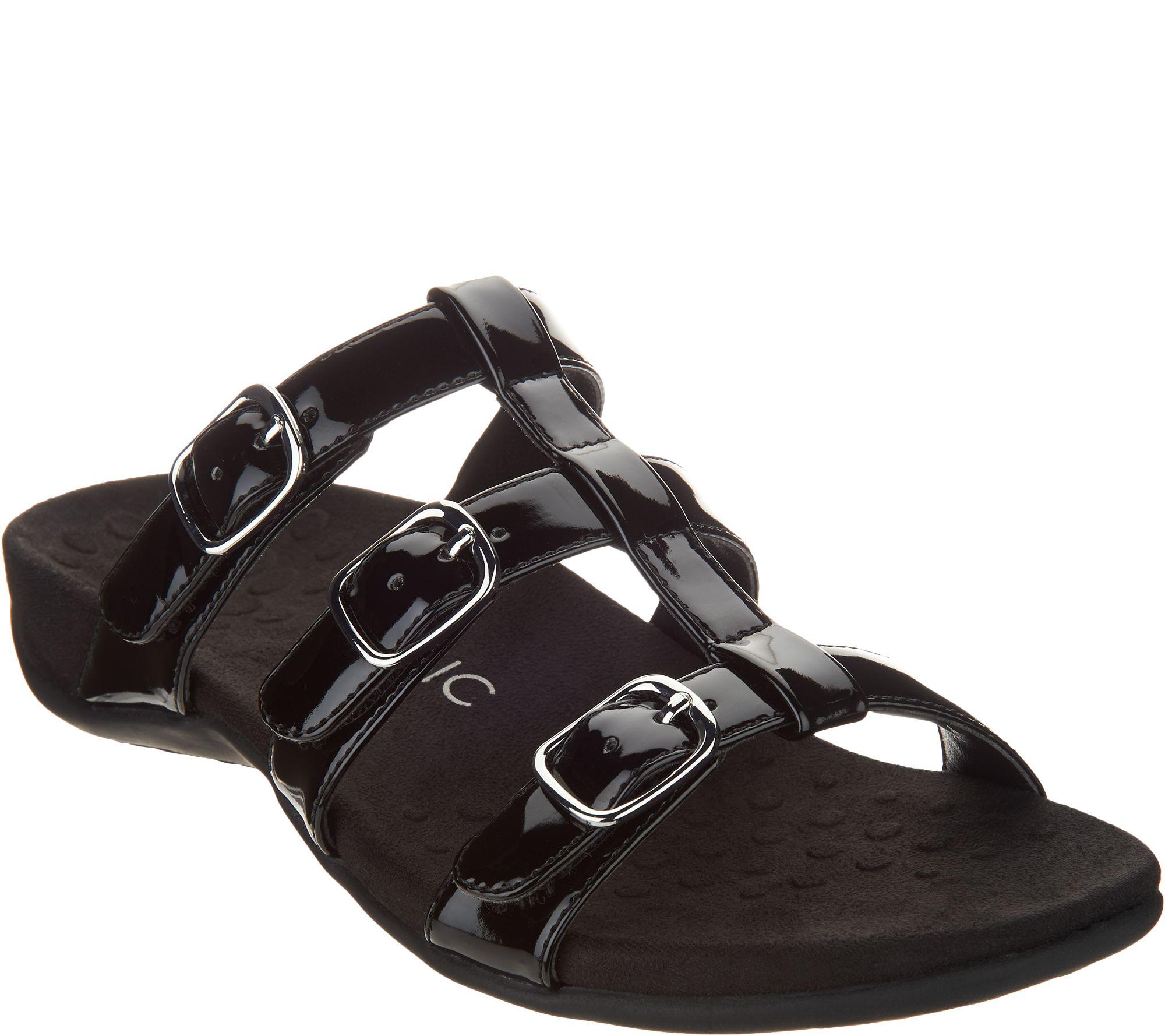 55c72b371d677 Vionic Adjustable Slide Sandals - Misa - Page 1 — QVC.com