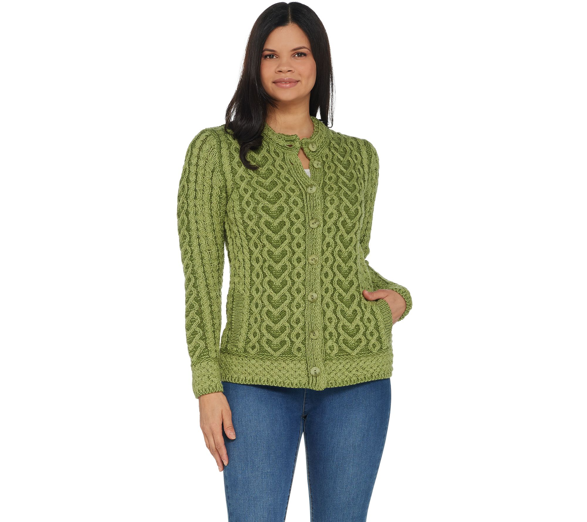 951309aa2e756e Aran Craft Hearts   Kisses Button Front Sweater Cardigan - Page 1 ...