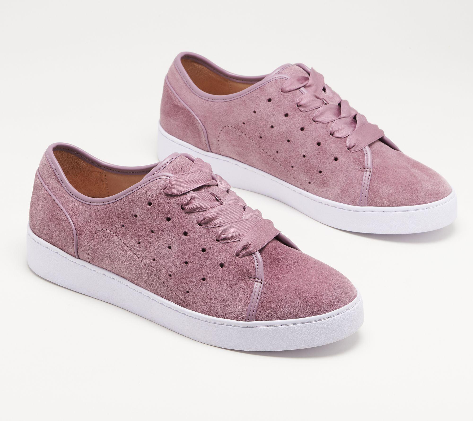 1e2eb3eee7f Vionic Suede Lace-Up Sneakers - Keke — QVC.com