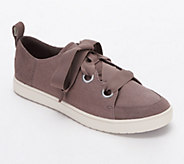 Koolaburra Suede and Canvas Sneakers - Penley - A347226