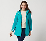 Susan Graver Water Resistant Zip-Front Jacket w/ Seaming Detail - A351426