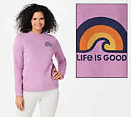 Life is Good Simply True Crew French Terry Sweatshirt - A351526