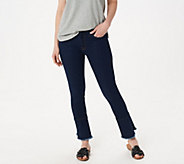 Jen7 by 7 For All Mankind Ankle Skinny Jeans with Ruffle Hem - A424426