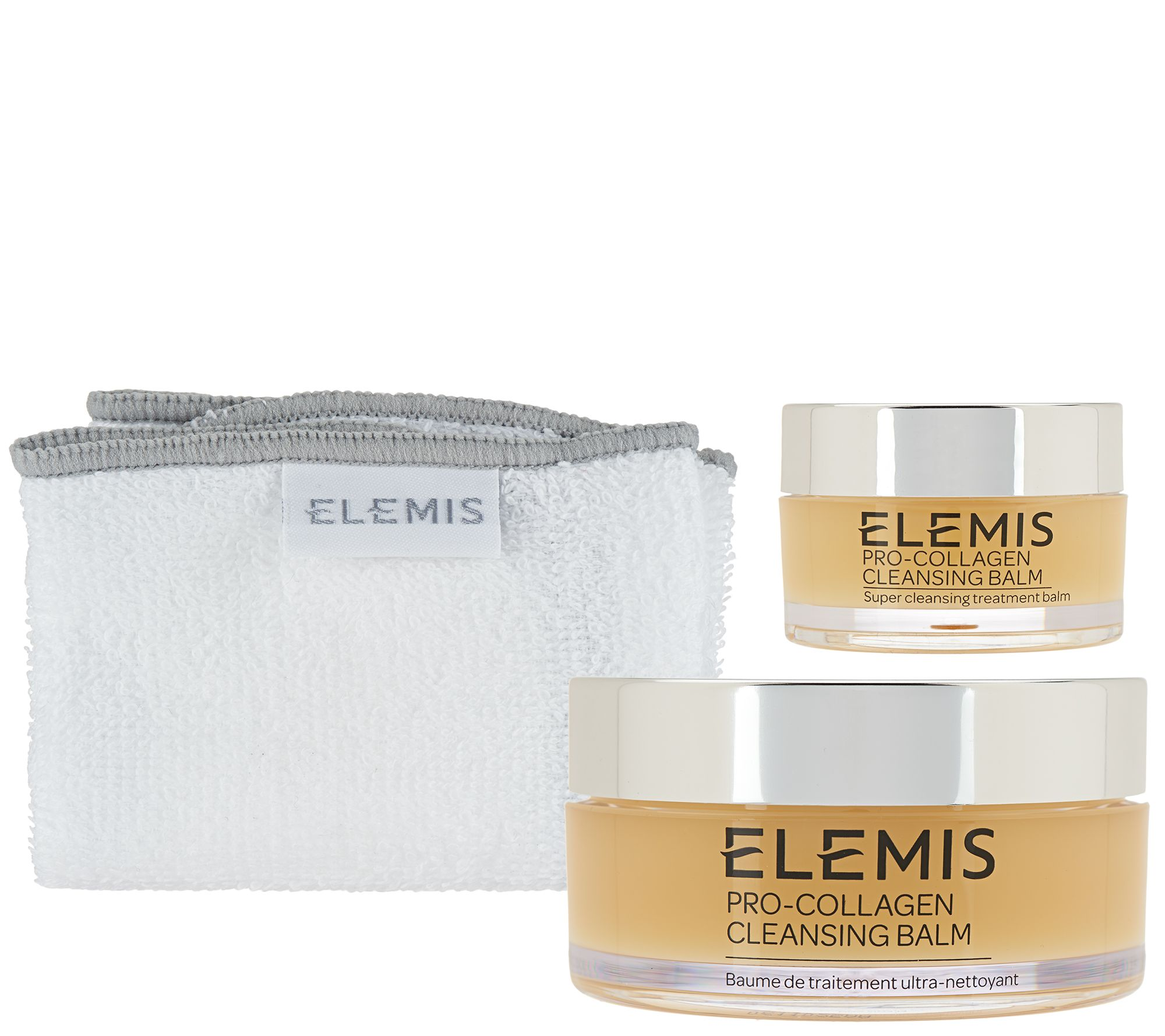 f53f256b5c ELEMIS Pro-Collagen Cleansing Balm w/ Travel-Size and Cloth - Page 1 —  QVC.com