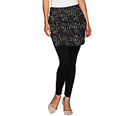 Legacy Ponte Knit Printed Ankle Length Skirted Leggings - A270527