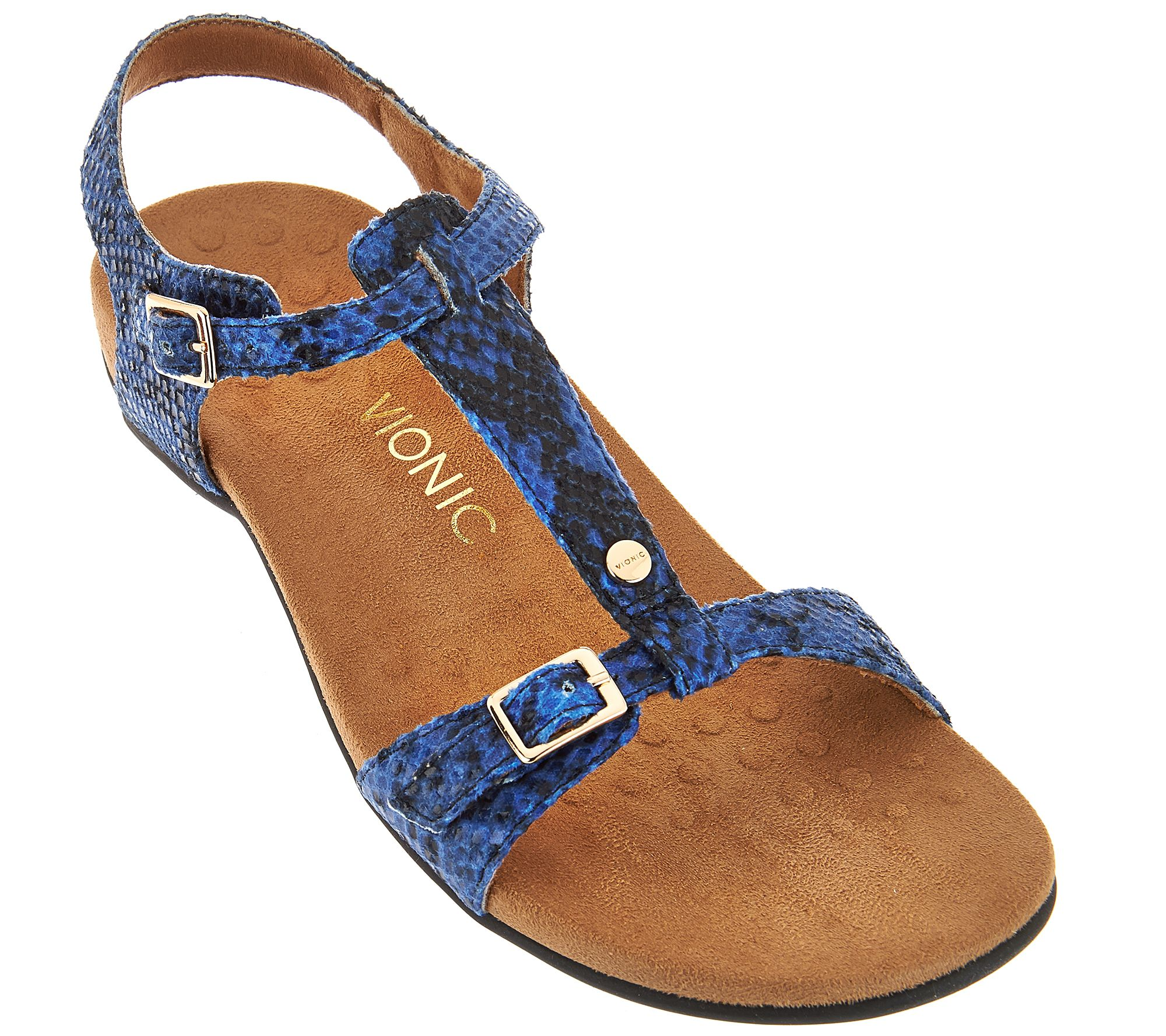 edad845a63f5e Vionic Orthotic T-Strap Sandals with Adjustable Straps - Isla - Page 1 — QVC .com