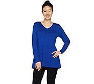 Susan Graver Modern Essentials Rayon Nylon A-Line Sweater - A293627