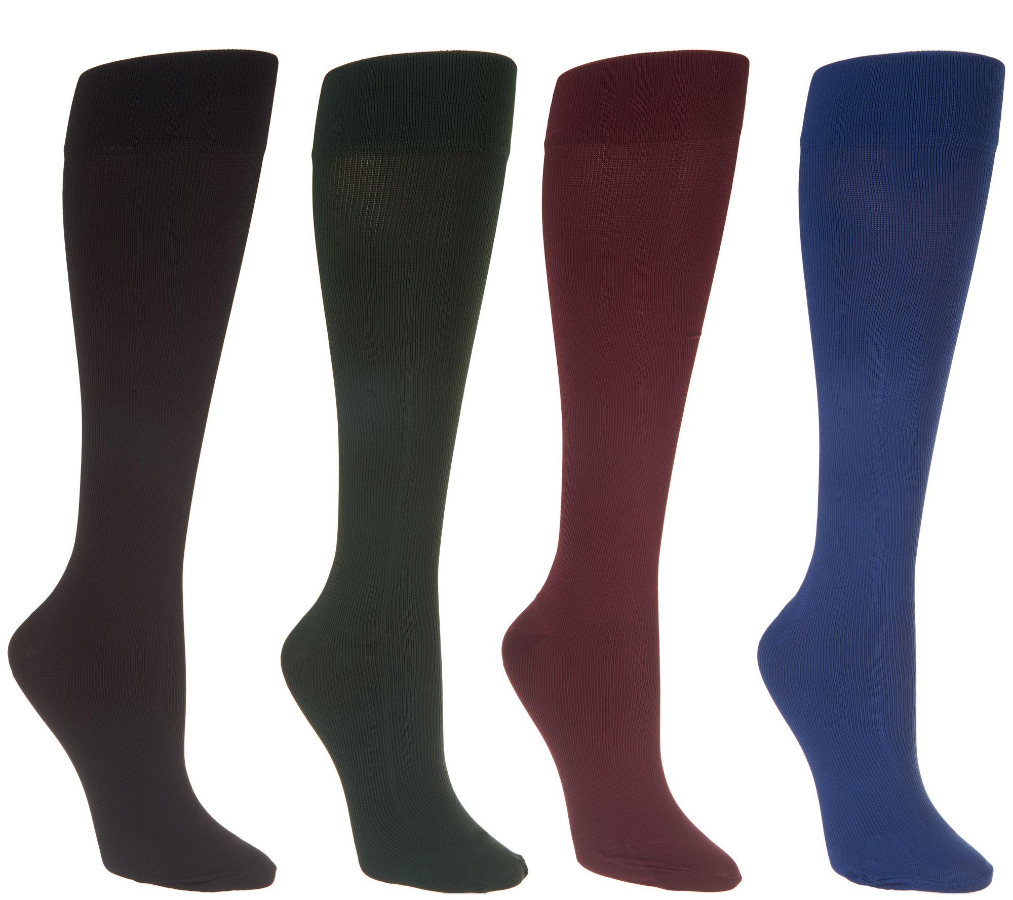 9df4556fdc5 Legacy Graduated Compression Socks 4 Pack - Page 1 — QVC.com
