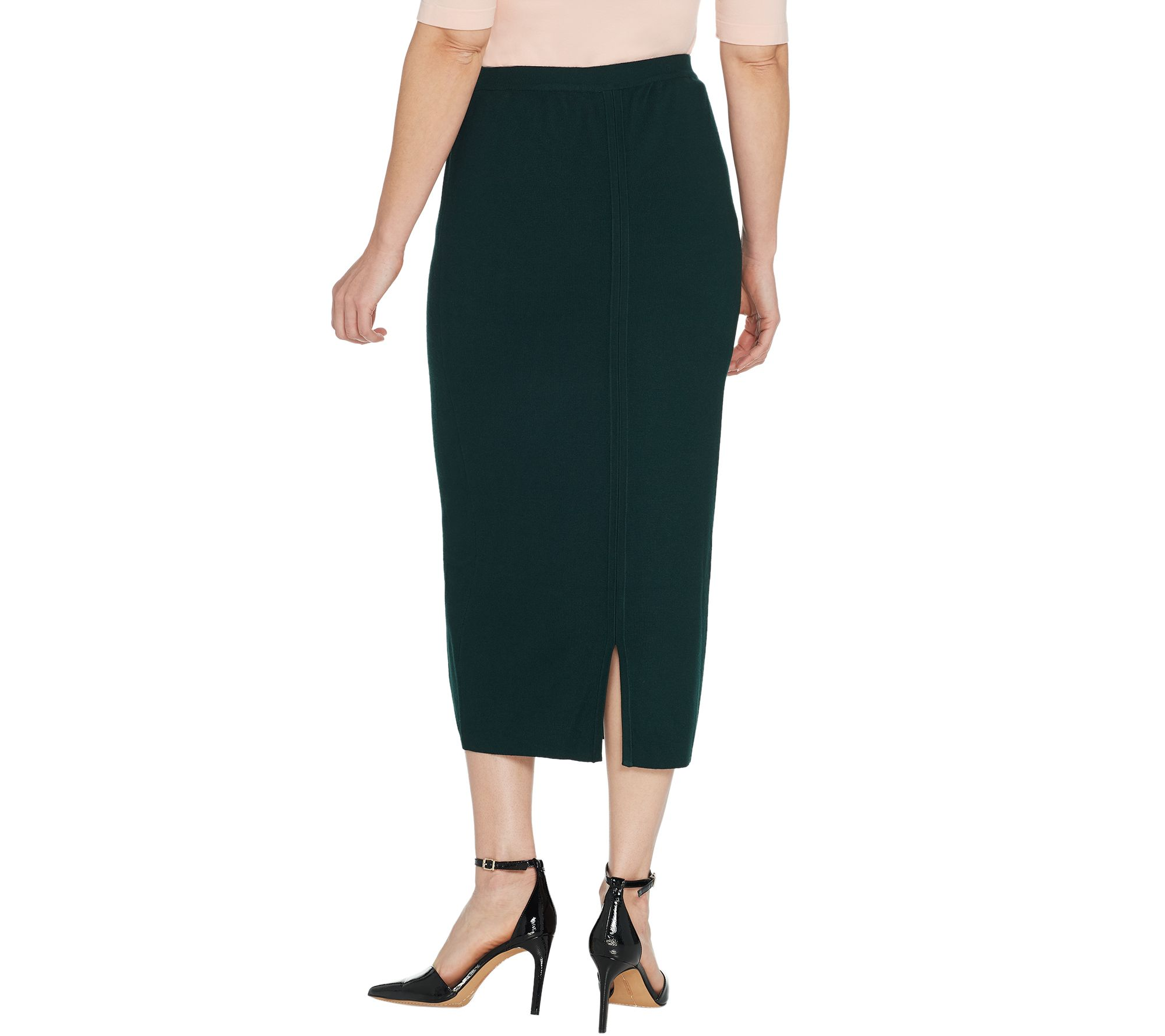 f83c675d0e Linea by Louis Dell'Olio Whisper Knit Midi Skirt - Page 1 — QVC.com
