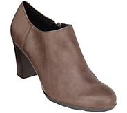 GEOX Leather Block Heel Shooties - Annya - A298927
