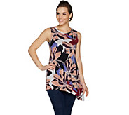 LOGO Layers by Lori Goldstein Printed Tank with Angled Hem - A299627