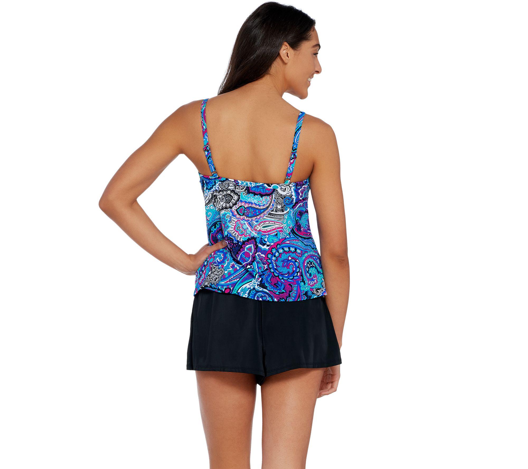 023b1eb73e84 DreamShaper by Miraclesuit Farrah Romper Swimsuit - Page 1 — QVC.com