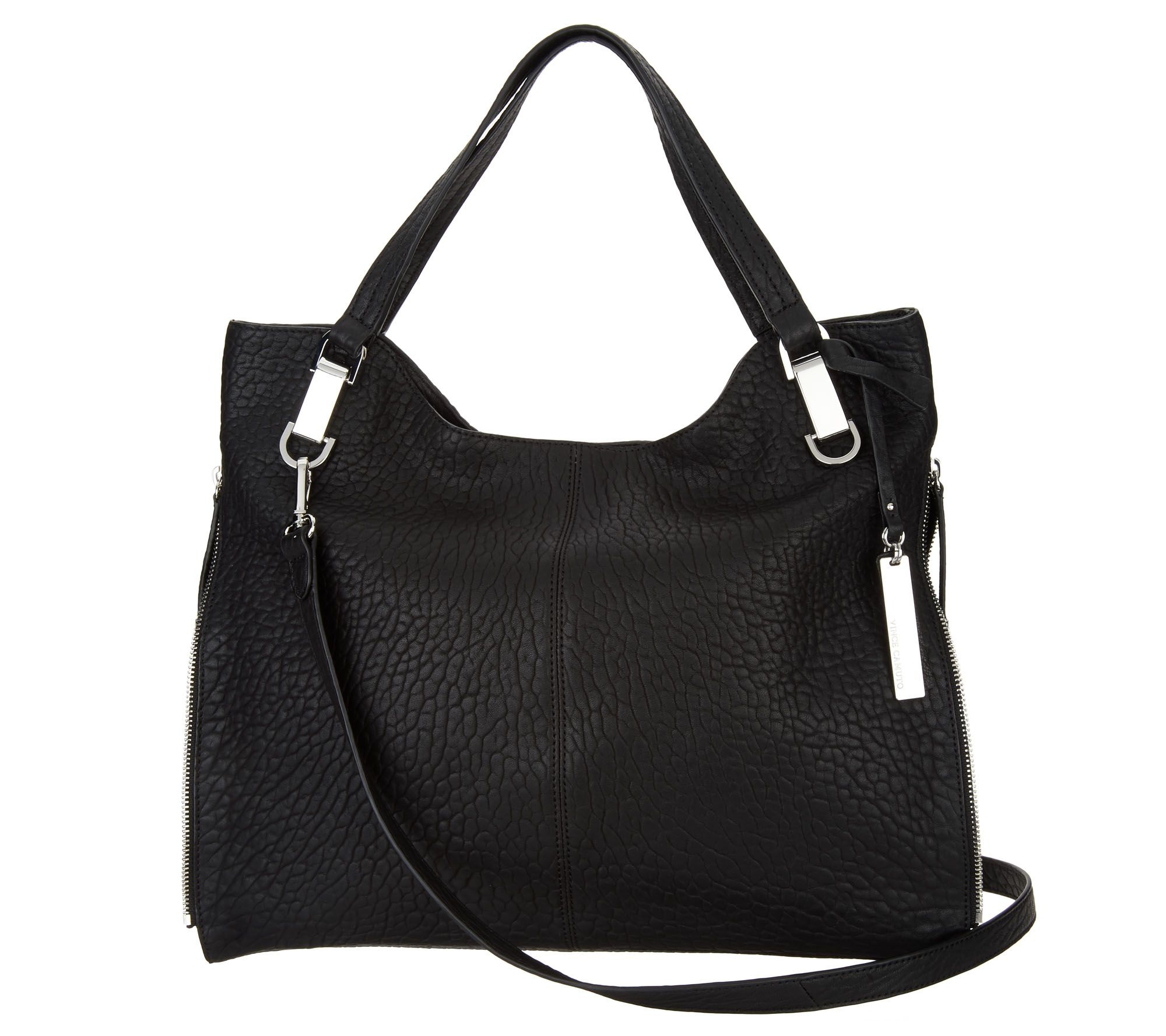 dc17162d8e9e Vince Camuto Leather Tote Handbag - Riley - Page 1 — QVC.com