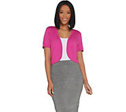 Joan Rivers Short Sleeve Jersey Knit Shrug - A304727