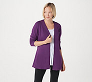 Denim & Co. Active French Terry Zip Front Long Sleeve Fit & Flare Jacket - A309327