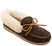 Minnetonka Leather Moccasin Slippers - Alpine - A338527