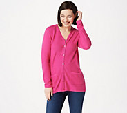 Joan Rivers Cardigan with Grosgrain Ribbon Detail - A347327