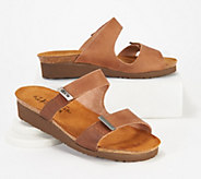 Naot Leather Slide Wedge Sandals - A349627