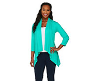 Susan Graver Weekend Cotton Modal Cardigan w/ Hi-Low Hem - A263028