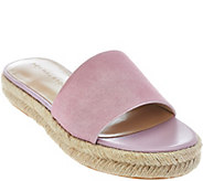 H by Halston Suede Flat Espadrille Slide - Norma - A276528