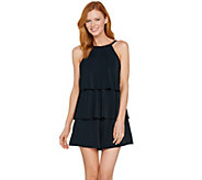 As Is Fit 4 U Hi Neck Double Tiered Romper Swimsuit - A298028