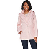 Susan Graver Zip Front Anorak Jacket with Lace Accents - A305128