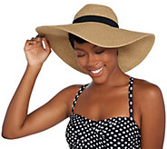 Attitudes by Renee Straw Hat with Sun Protection - A307828