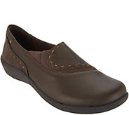 Earth Origins Leather Slip-On Shoes - Leona - A311528