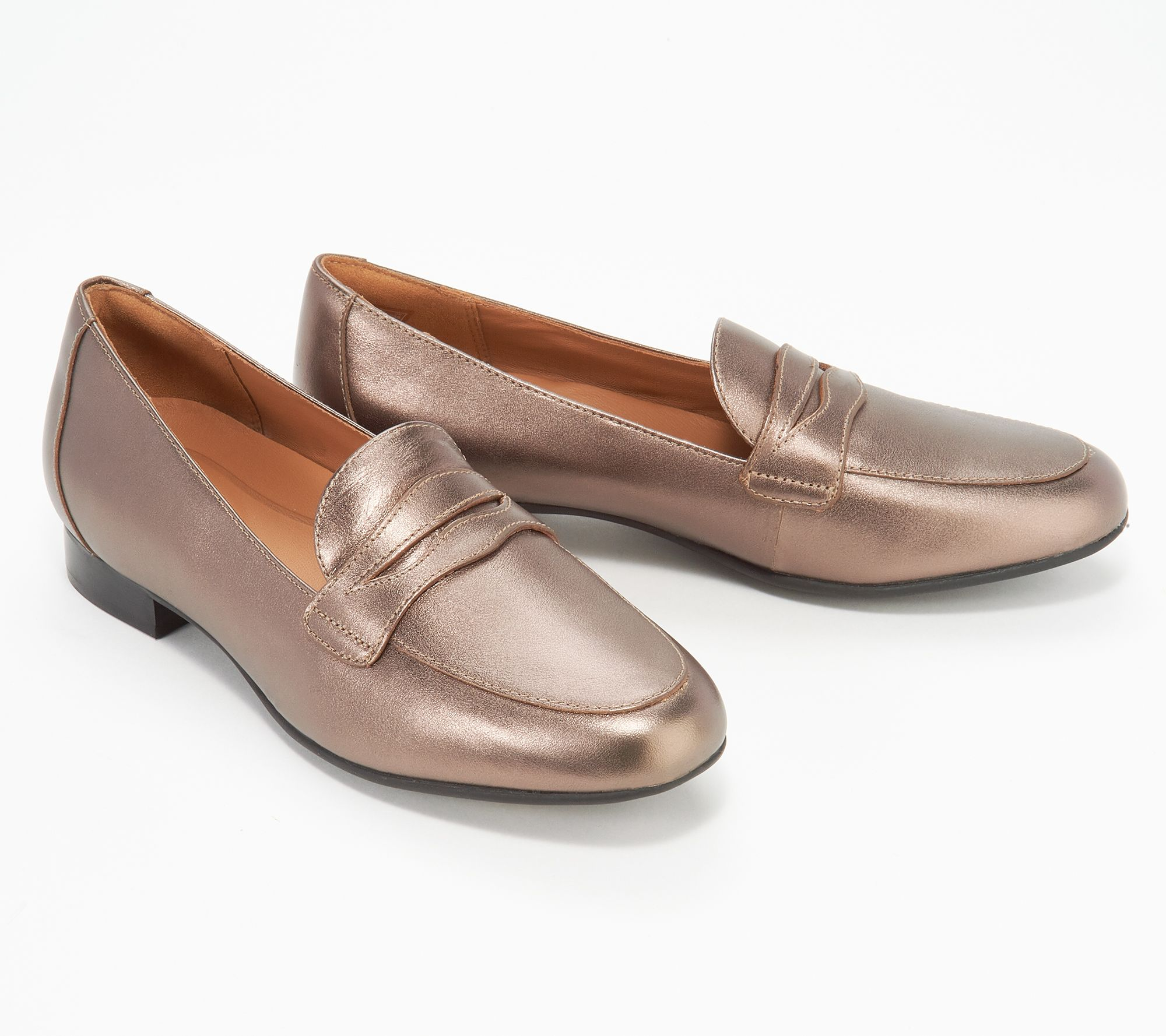 df3e0a32990 Clarks Unstructured Slip-On Penny Loafers - Un Blush Go - Page 1 — QVC.com
