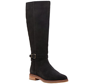 Clarks Artisan Suede Knee-High Boots - Clarkdale
