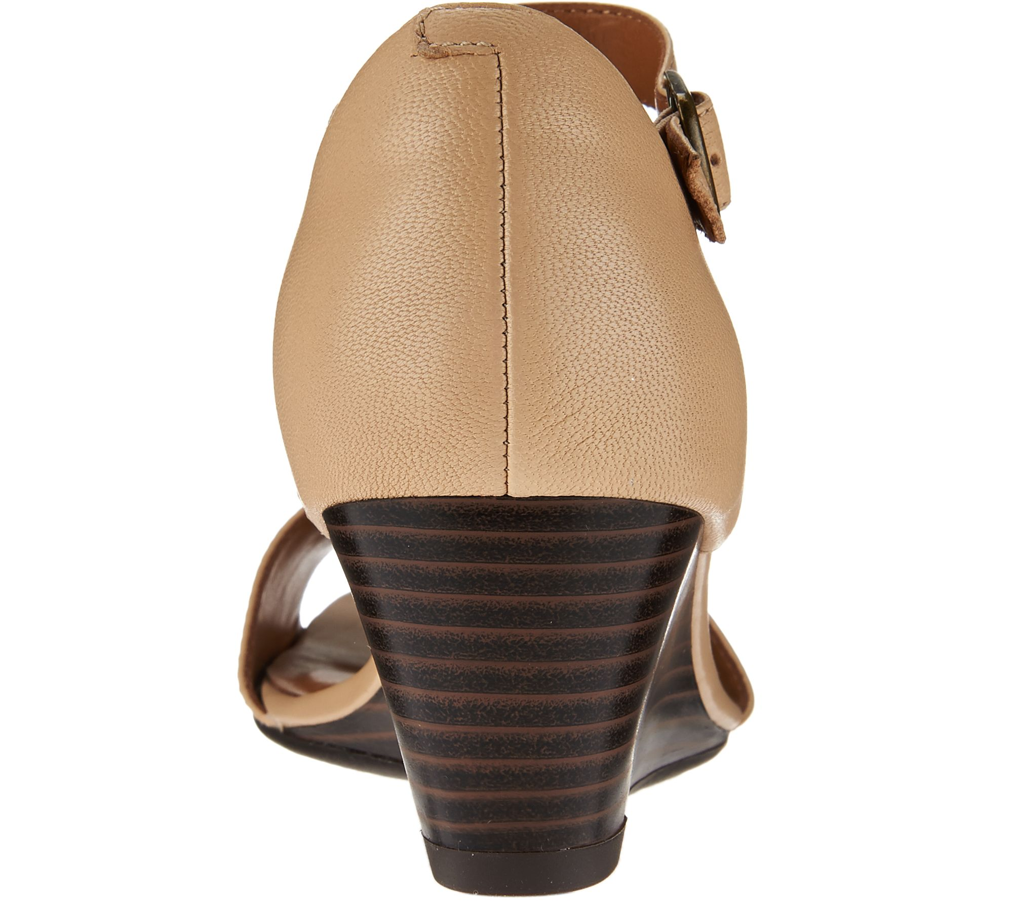 4907a645b7c3 Clarks Leather Open Toe Wedge Sandals - Brielle Drive - Page 1 — QVC.com