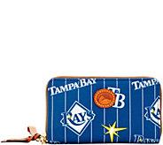 Dooney & Bourke MLB Nylon Rays Zip Around Phone Wristlet - A281729