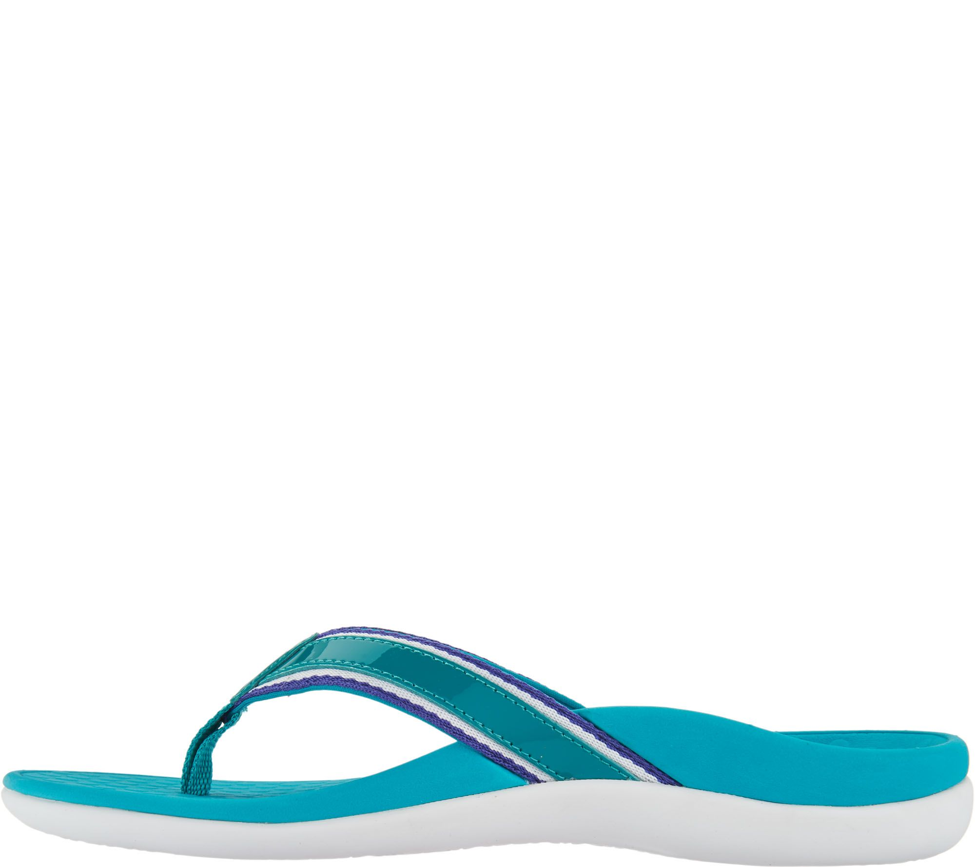 c27920b16100 Vionic Orthotic Stripe Leather Thong Sandal - Tide Sport - Page 1 — QVC.com