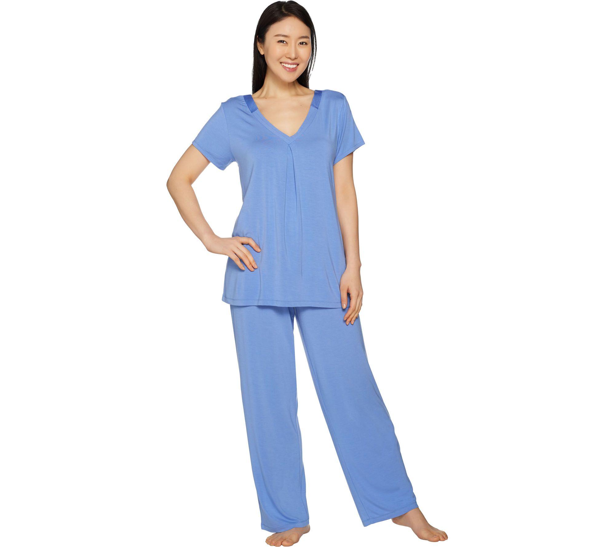 f6014a5d6b Carole Hochman Modal Spandex Satin Pajama Set - Page 1 — QVC.com