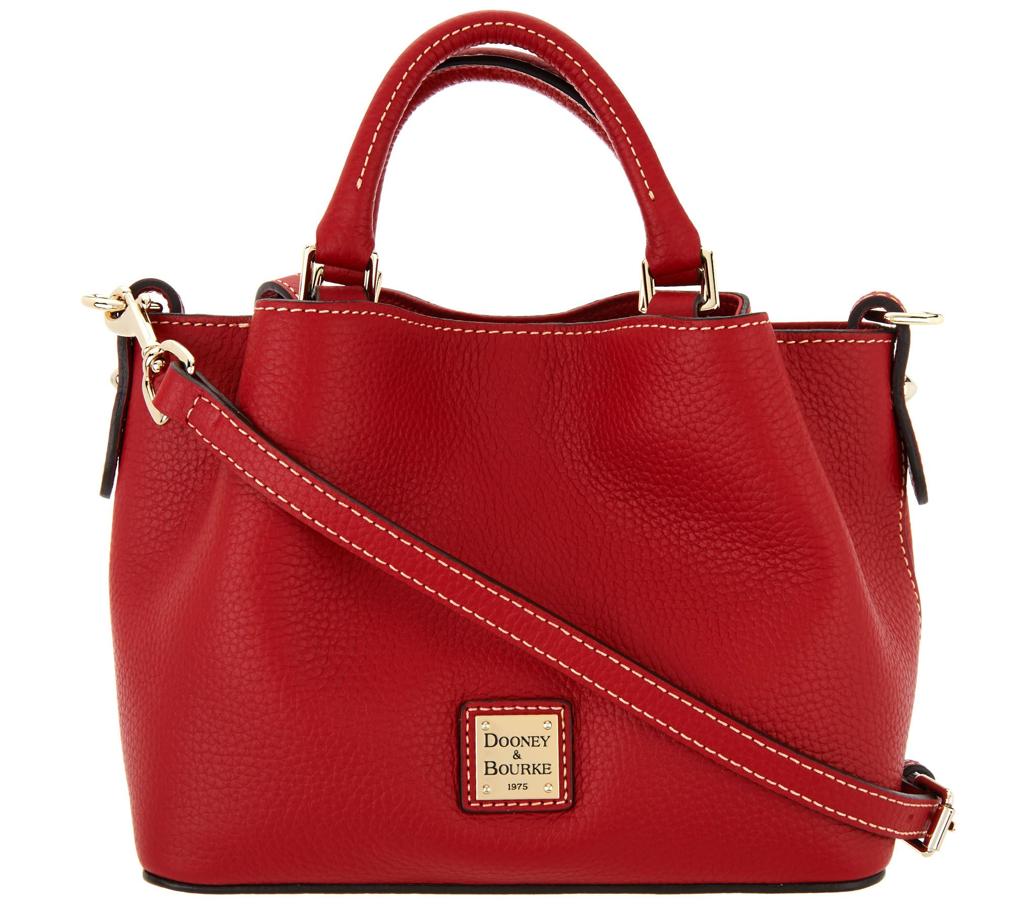 0fb376aa049b Dooney   Bourke Pebble Leather Mini Barlow Crossbody Handbag - Page 1 — QVC. com